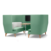 Office Telephone Booth/Meeting Pod With TV desk/Office Sofa Design