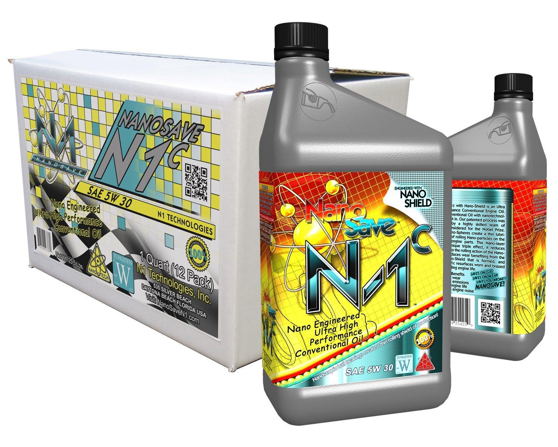 NanoSave N1-C Nano Engineered Premium Conventional Engine Oil -1 Quart (12 Pack)