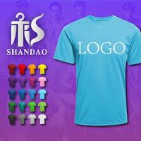 2017 Guangzhou Wholesaler Summer Short Sleeve O- Neck Blue Men Rayon Polyester Cotton T Shirt