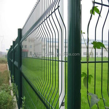 pvc coated welded fence export to Germany cruvy wire mesh fence