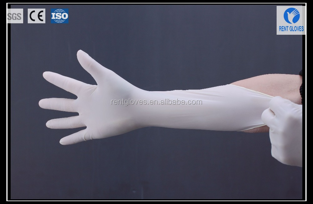 Medical grade independent bag packaging latex surgical gloves