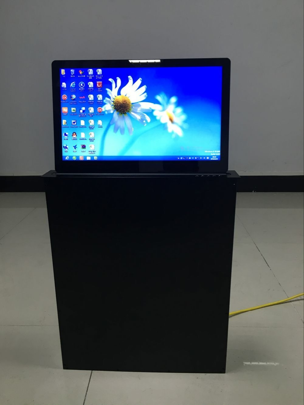 Flip Up Electric Computer LCD Monitor Lift mechanism for Conference Table