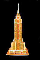 3D OEM paper puzzle of the Empire State Building world famous building | Customized KT Board 3D Puzzle