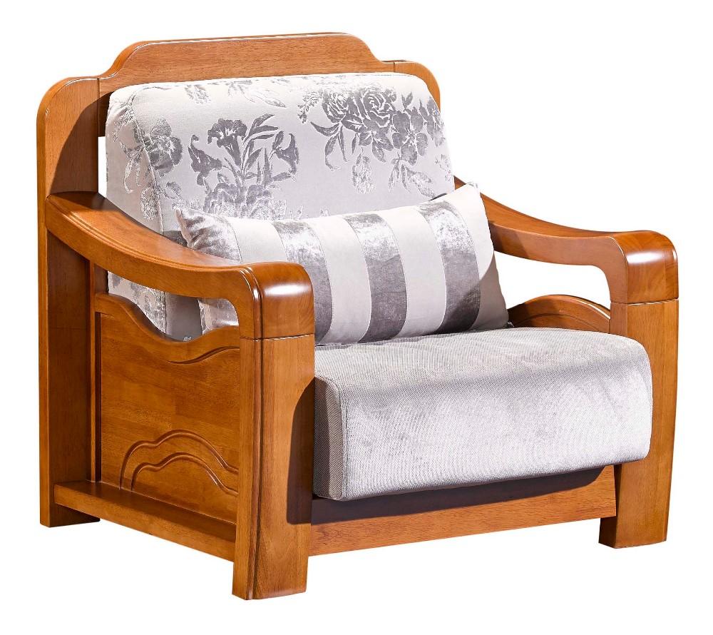 Modern home living room furniture wooden single seat for Single seats for living room