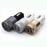 Factory sales Dual Port USB CAR Charger HI AMP Fast Charging Lighter For tablet mobile phone