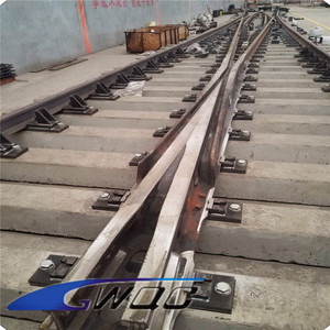 China supplier customized concrete railway sleepers price for turnout