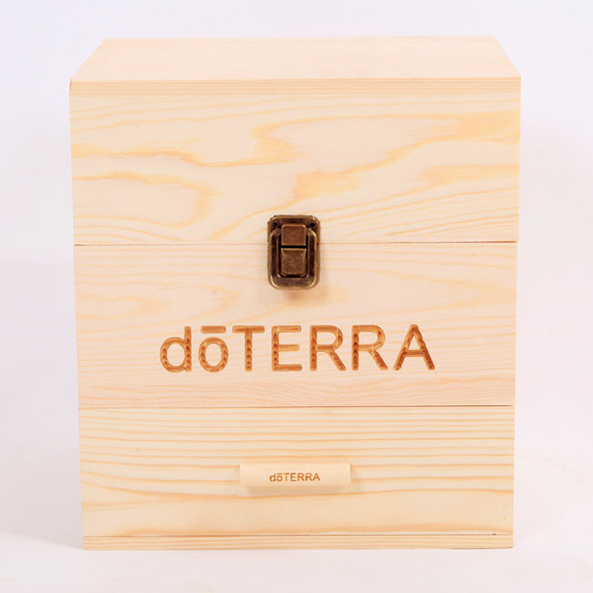 Natural pine <strong>wood</strong> 3 tiers doTERRA essential oil box