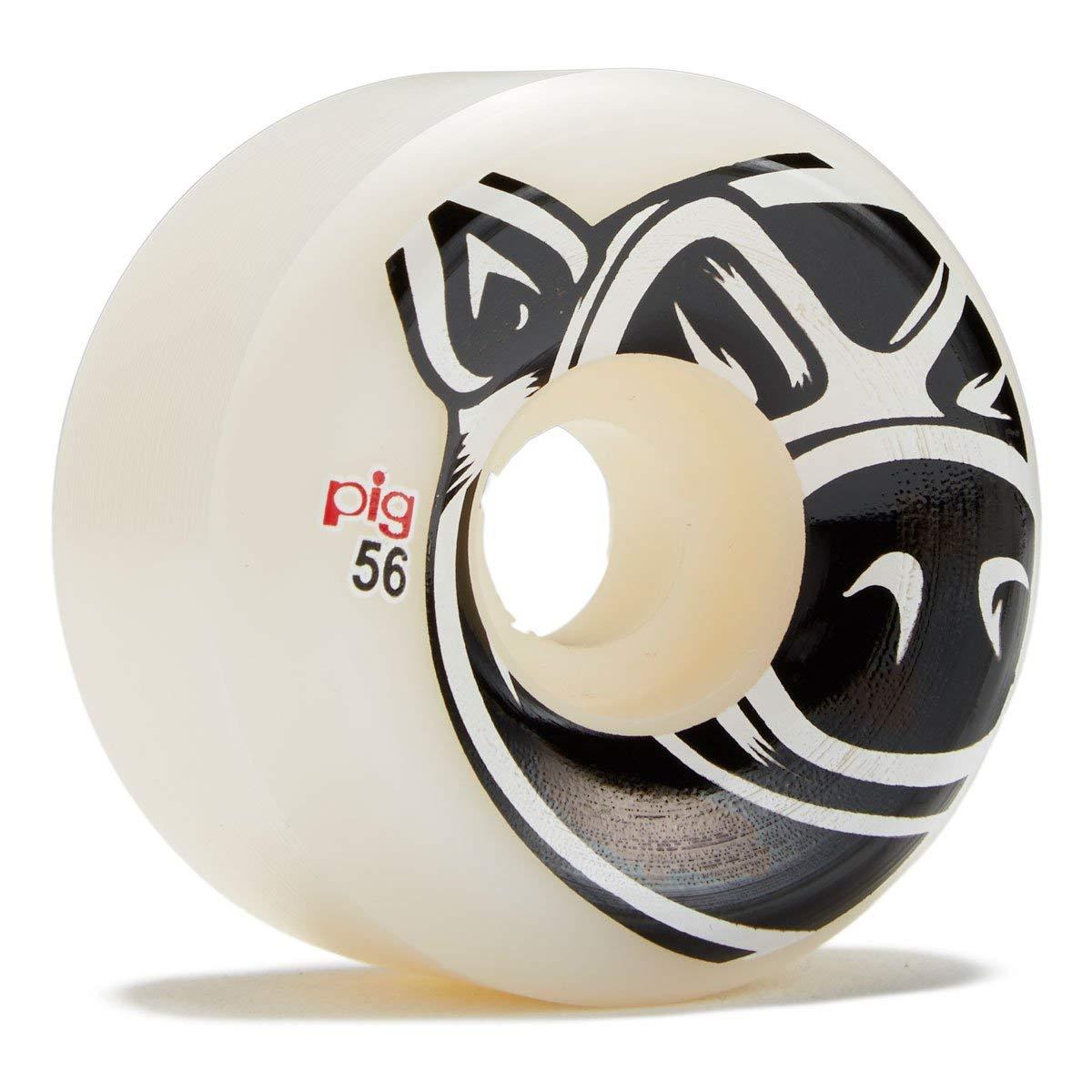 PIG Head Natuarl Conical Skateboard Wheels - 56mm