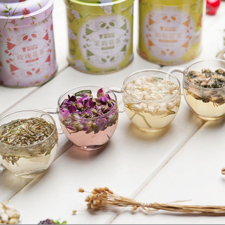 Small Tin Package loose tea herbal 4 flavours flower tea - 4uTea | 4uTea.com