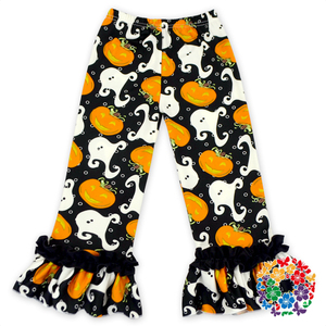 Long Style Soft Touch Halloween Kids Baby Ruffle Pants