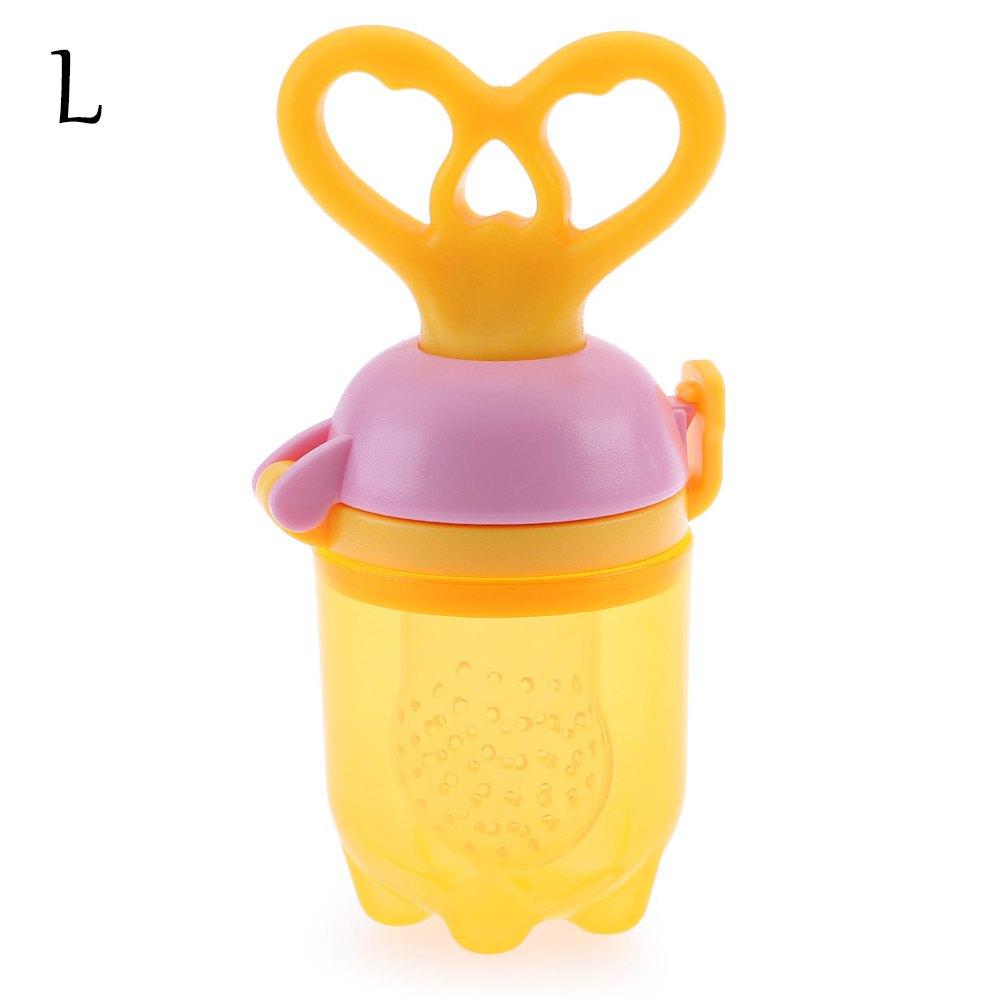 Nipple Fresh Fruit Vegetable Feeder Push Type Tool Chew feeding L Size Fresh Food Pacifier Feeder Feeding Tool Bell Safe Baby