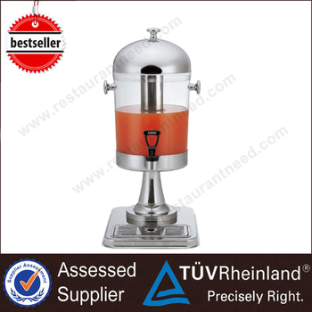 High Grade Stainless Steel/Gilded Refrigerated Cold Drink Dispenser
