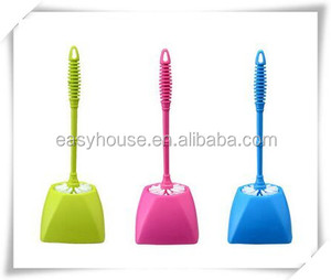 factory wholesale cheap plastic wc toilet bowl cleaning brush with holder tb029