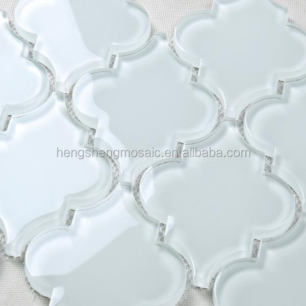 Gros antidérapant blanc arabesque ovale dosseret de carreaux pour ...