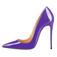 2018 Custom patent leather sexy women high heels dress shoes