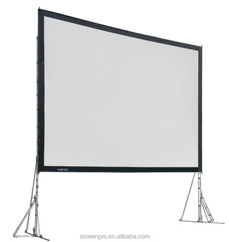 "300"" fast folding projector screen with road casing aluminum frame projector Screen"