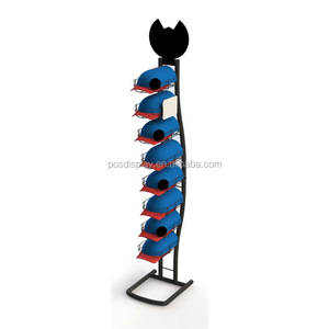 baseball cap display rack and shelf/hat stand display for retail store