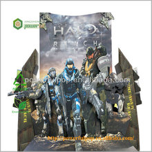 Supermarket wholesale 4C printing halo reach floor display advertising free standing display