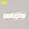 WK 13A Unfused 4way Extension Lead Socket with Surge Protection + 2M BS Cable + 13A Fused Plug