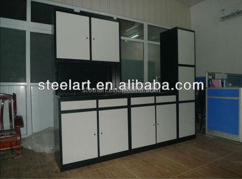Indian steel modular kitchen cabinet design buy steel for Steel modular kitchen designs