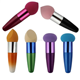 Colorful Cosmetic Sponge Puff With Stick Long Handle Powder Puff