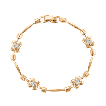 75319 Fashion Style Women Jewelry Simple Designs 18k Gold Flower Shaped Bracelet