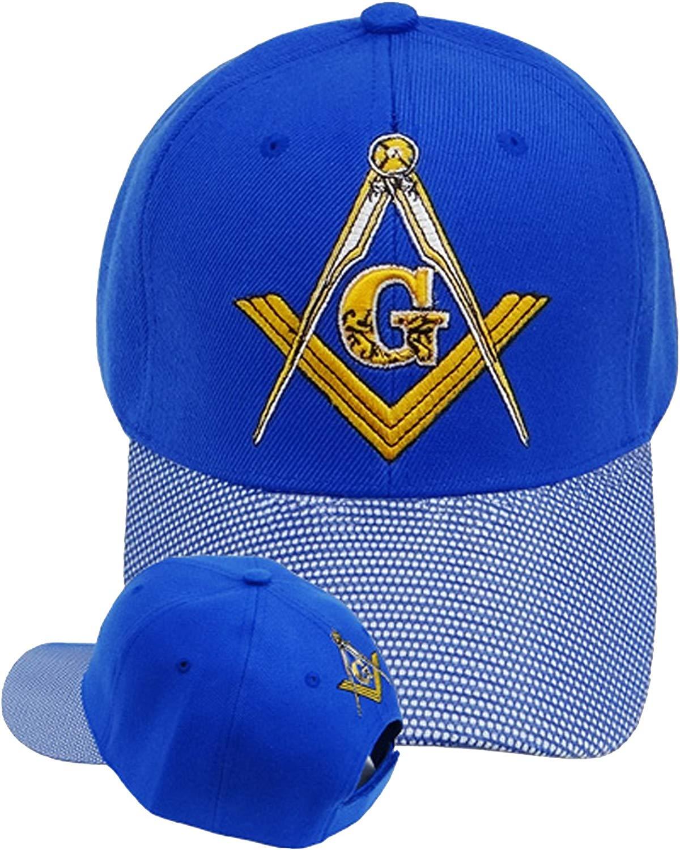 Freemason Embroidered Blue and White Hat Mason Masonic Lodge Baseball Cap 1b402aa65296