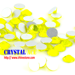Non hot fix rhinestone Citrine ,flat back non hot fix stone ,citrine non hotfix crystal for nail art