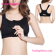 Athletic Black Cropped Front Zip Sports Sexy Bra Tank Top Sport Wear
