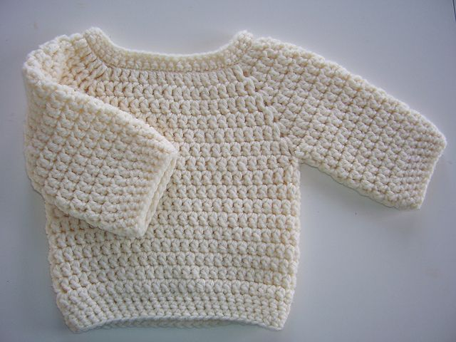100 Katoen Crochet Trui Patroon Met De Hand Gehaakt Baby Trui
