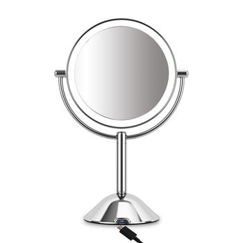 Spiegel Battery Operated Adjustable Brightness 10X Magnifying Led Makeup Mirror With Lights