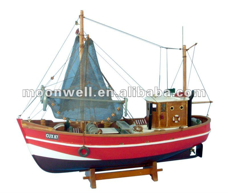 de madera barco de pesca barcos modelismo recuerdos nuticas regalos decoracion modelismo replica