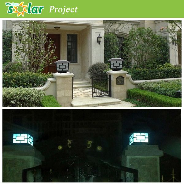 Low Voltage Outdoor Lighting With Aluminum Solar Pillar Light ...
