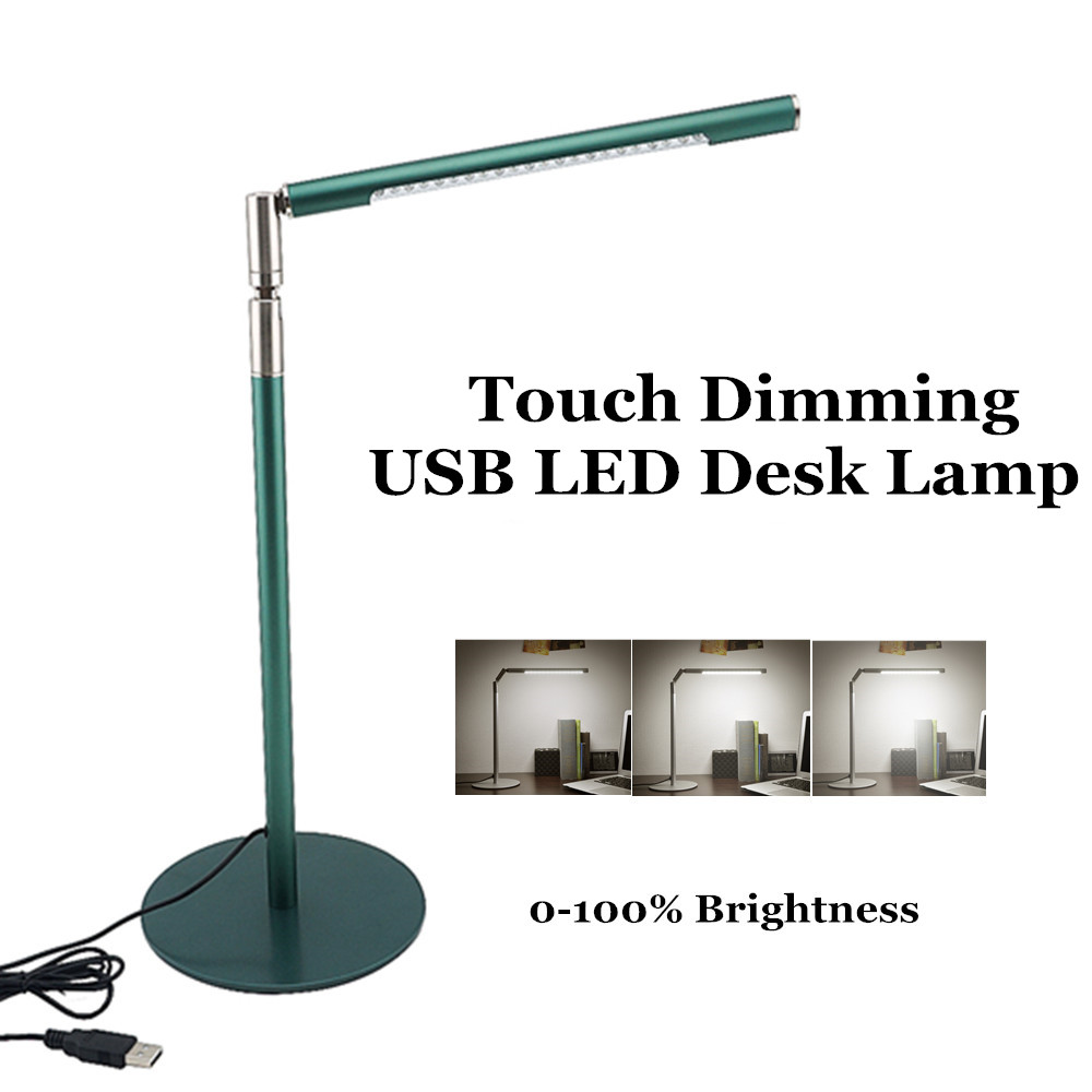 touch dimming usb led desk lamp rechargeable folding eye care reading light led table lamp for. Black Bedroom Furniture Sets. Home Design Ideas