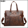 Luxury fashion crocodile grain leather handbags wholesale