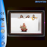 Indoor room decoration crystal led acrylic picture frame