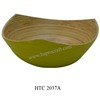 Coiled bamboo bowl in Vietnam / Lacquered bamboo kitchenware (HTC 2037A)
