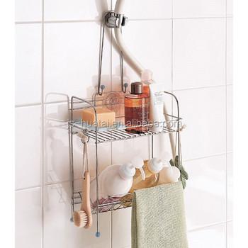 2 Tier Corner Shelf, Wall Mounted Bathroom Shower Caddy Soap Shampoo Holder  BR06