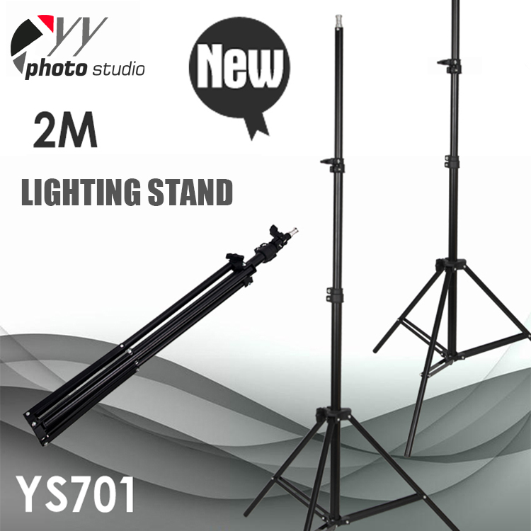 2M aluminium photographic equipment tripod heavy duty light stand