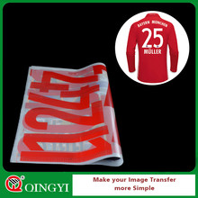 QingYi supplier iron on transfer numbers for t-shirt