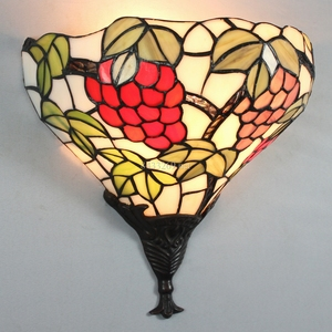 12inch handmade glass tiffany wall lamp for home decoration inner wall light