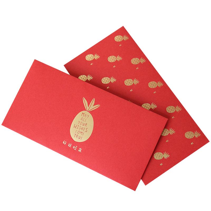 2018 Custom Printing Gold Stamp Chinese New Year Red