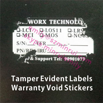 Custom Writable Big Size Tamper Proof Seal Stickers With