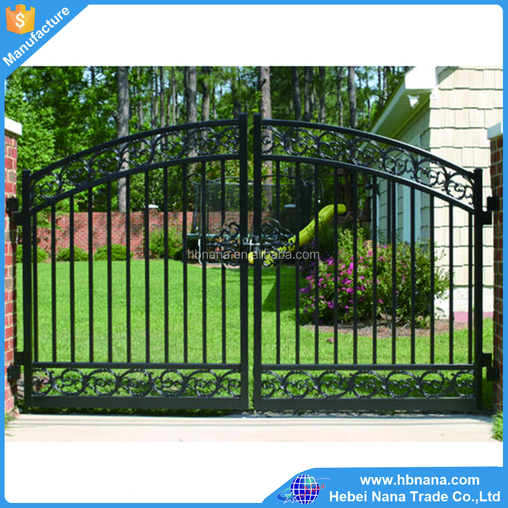 Aluminum pool gate and fence design / Removable sliding iron fence gate
