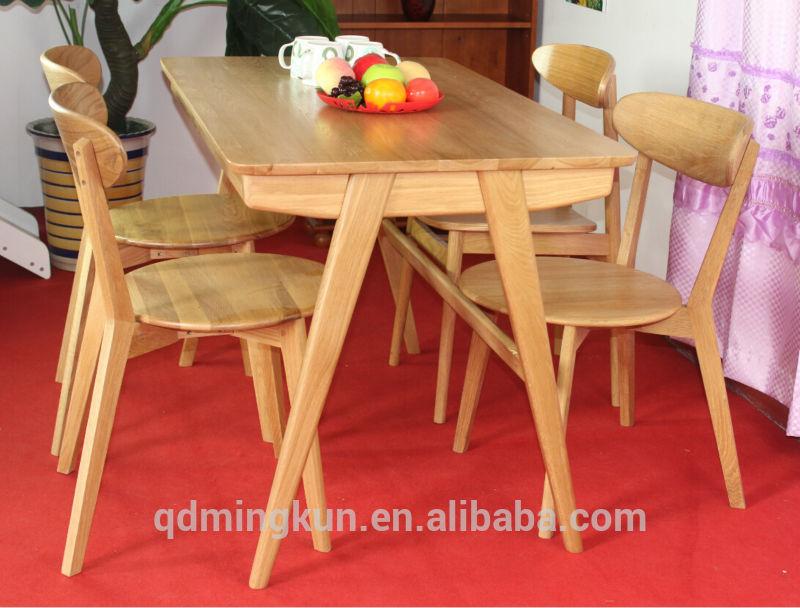 barato de madera maciza mesa de comedor conjunto-Sillas de madera ...