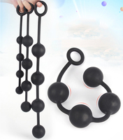 4 Balls Anal Beads Erotic G-spot Silicone Butt Plug with Pull Ring Sex Toys for Women Men