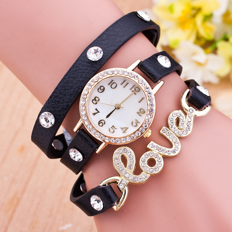 Latest Women Wrist Watch Custom Made China Wholesale Luxury Diamond Ring Alloy Case Golden