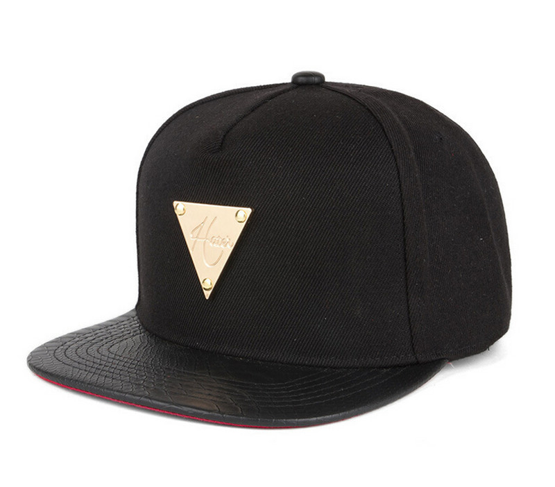 05a30d3af08 Get Quotations · 1 PC 5 panel raiders snapback cap gold triangle mark baseball  cap black gorras planas free