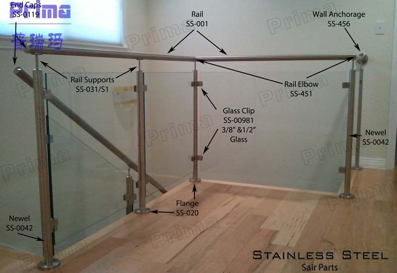 Exterior Stainless Steel Railing Handrail Balcony Steel