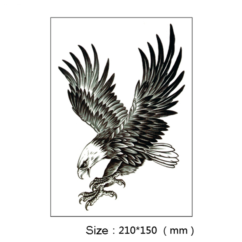 3Pcs Flying Eagle Henna Fake Skull 3D Waterproof Tattoo Sticker Robot Arm  Designs Temporary Tattoo Sleeve Body Art